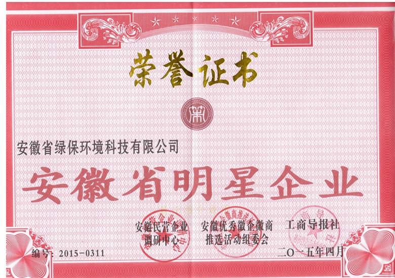 安徽省明星企业
