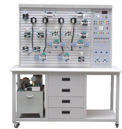HKYA-281A透明液壓PLC控制實訓裝置(T型鋁槽式.鋼桌)