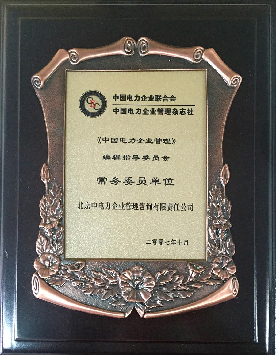 2007《中国电力企业管理》常务委员单位