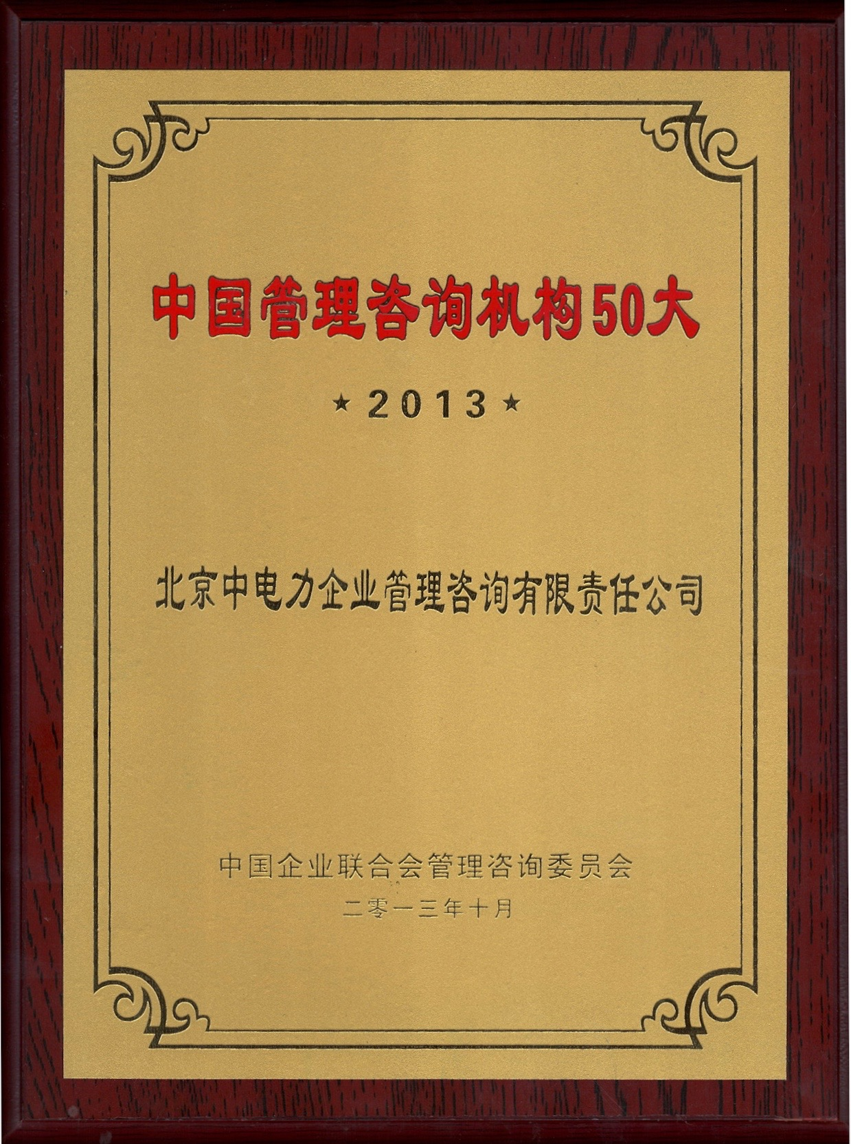 2013中国管理咨询机构50大