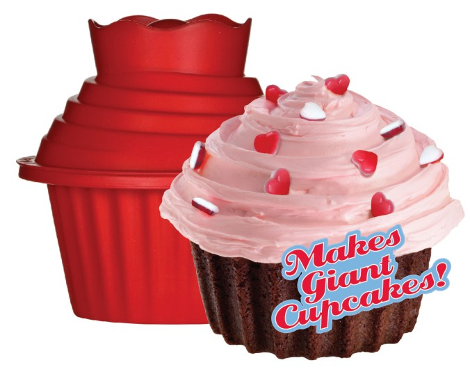 Giant Big 3-D silicone Cupcake 3 piece pan bake set