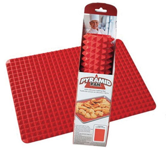 Pyramid Pan Fat Reducing Silicone Cooking Mat Non Stick Oven Baking Tray Sheet