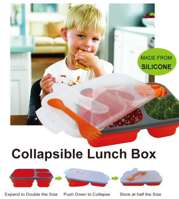 Silicone Lunch Box 3 Cav
