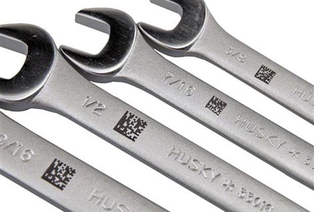 五金金属工具激光打标二维码