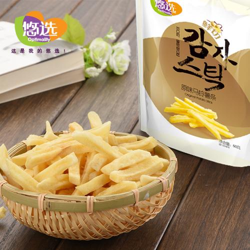 悠选90g鲜切马铃薯条 原味 (18g*5袋 小包装)
