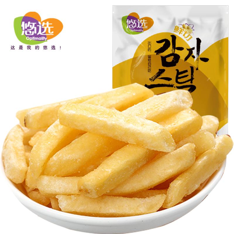 悠选90g鲜切马铃薯条 烧烤味 (18g*5袋小包装)