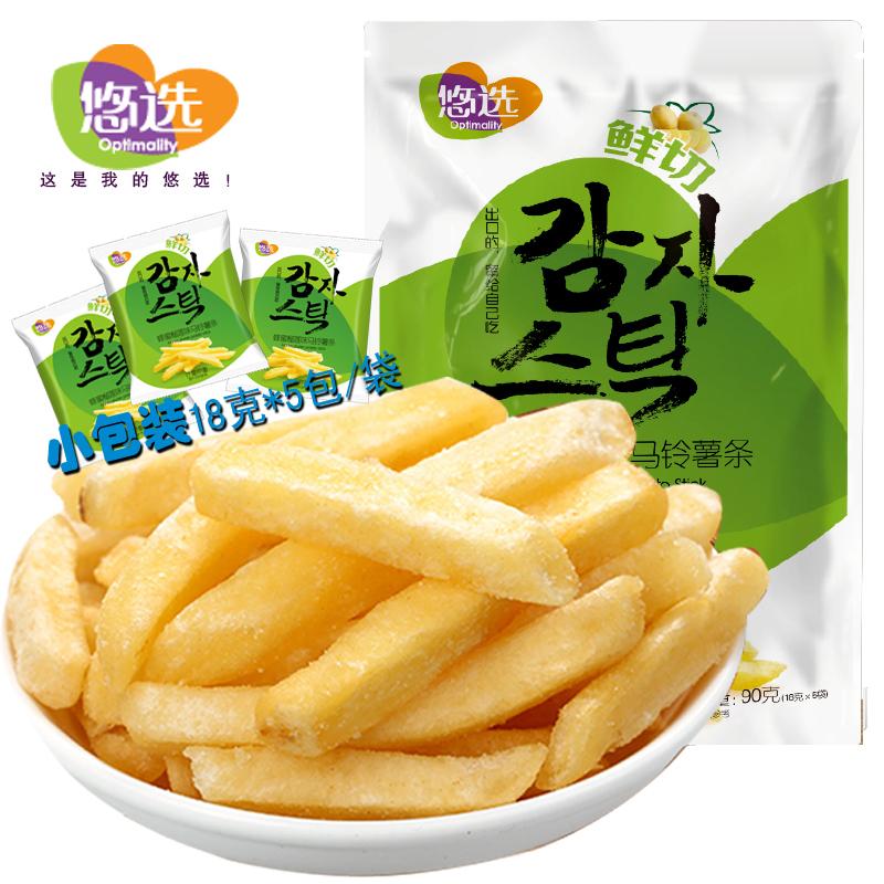 悠选90g鲜切马铃薯条 蜂蜜榴莲味 (18g*5袋小包装)