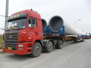 """""""惠州博罗旺邦货运公司17.5米平板挂车运输图""""/"""