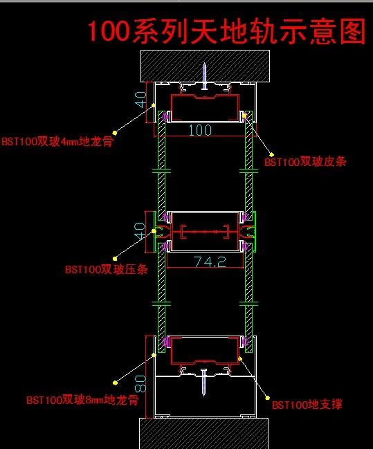 BST100高隔间,安装示意图