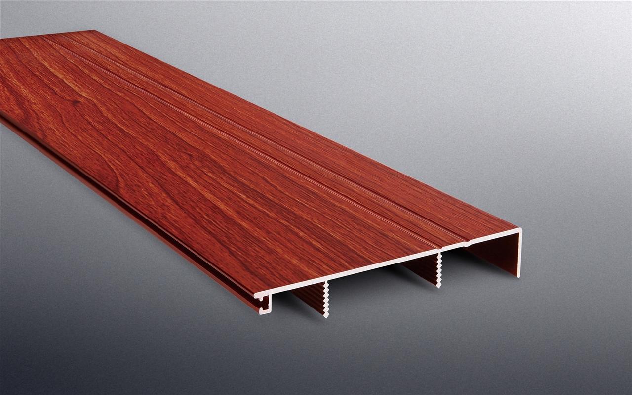 BST 80mm铝合金踢脚线-红木色