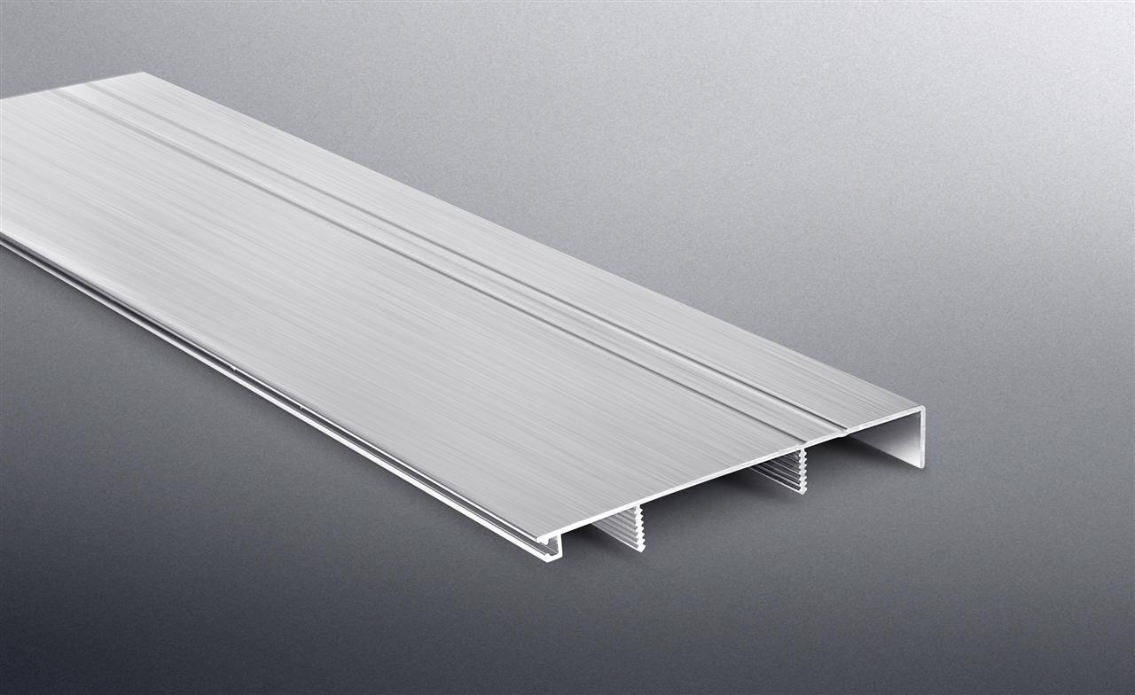 BST 100mm铝合金踢脚线—亮光拉丝