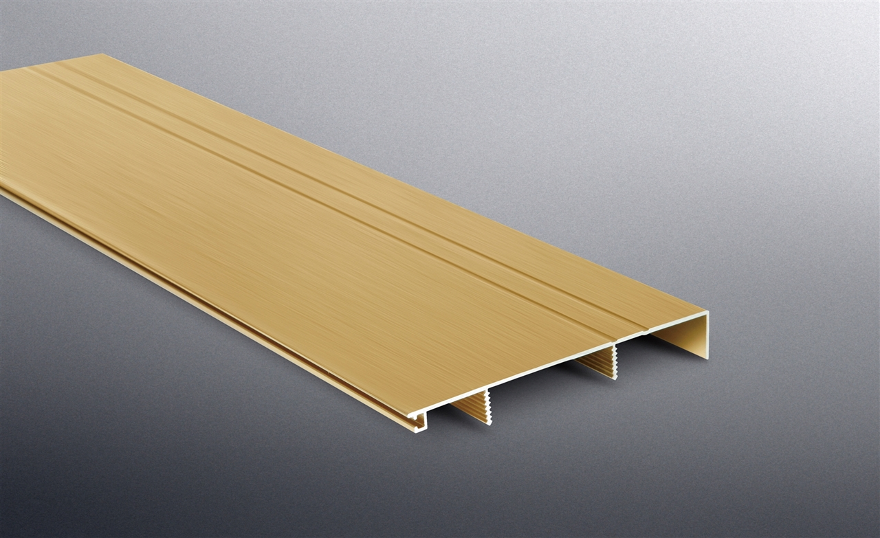 BST 80mm铝合金踢脚线-钛金拉丝