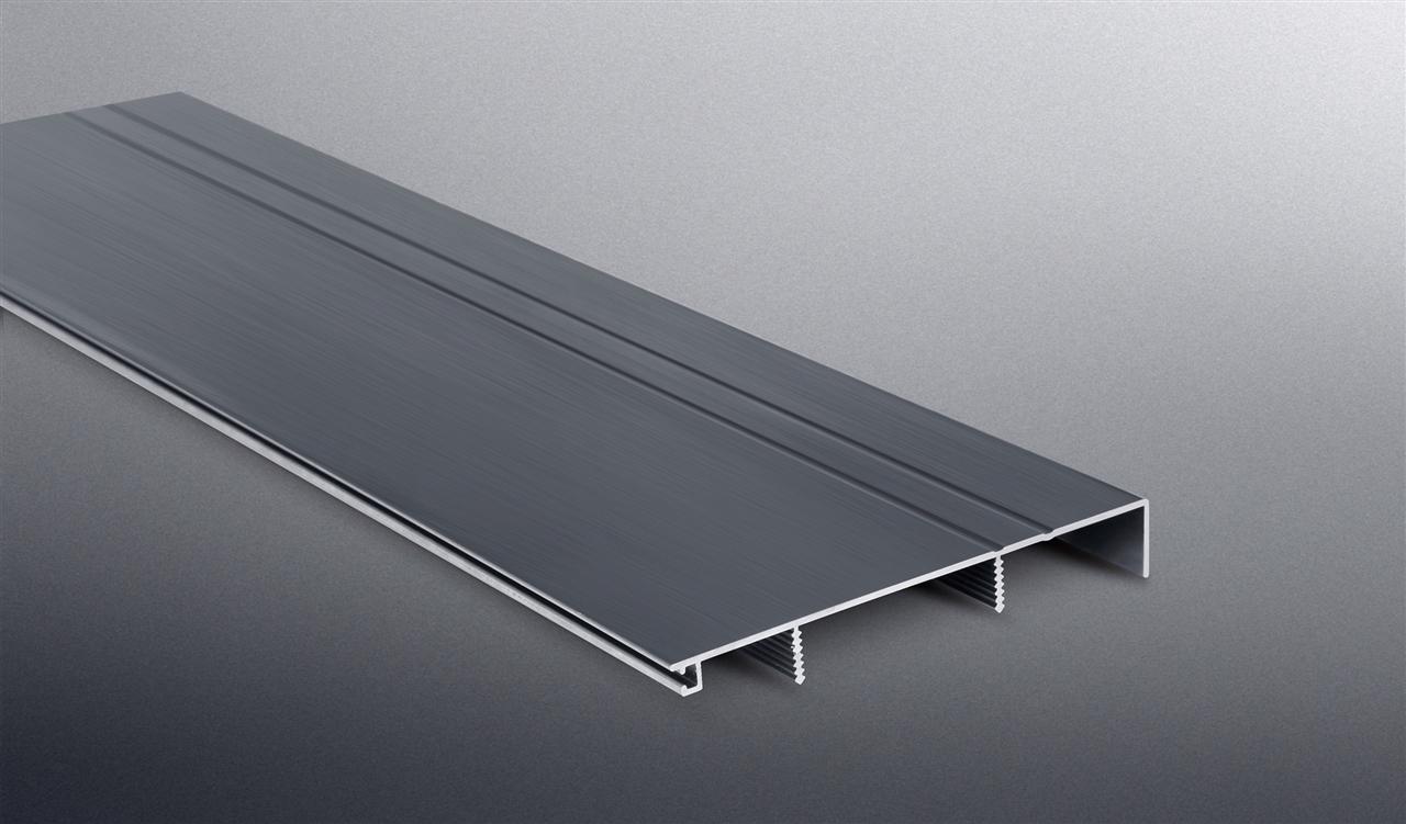 BST 100mm铝合金踢脚线-黑金拉丝