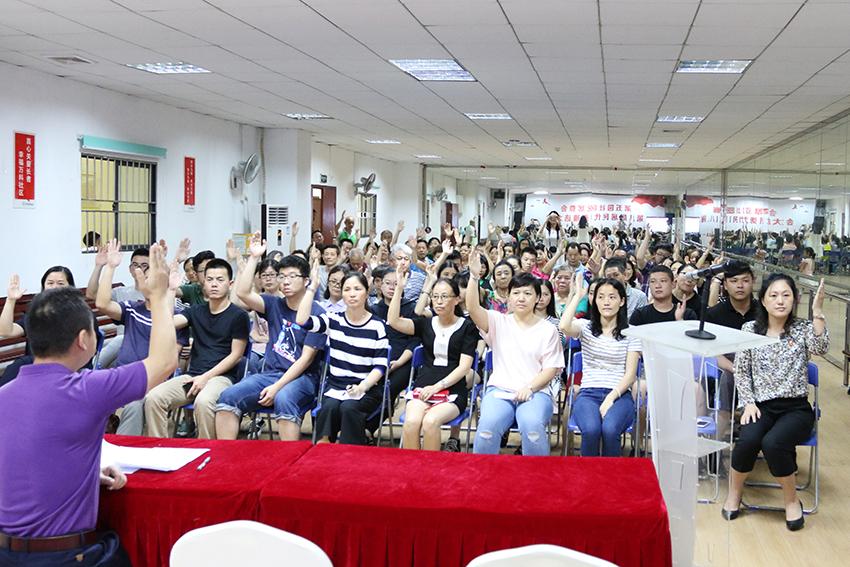 2017年5月24日第五园社区居民代表推选会议