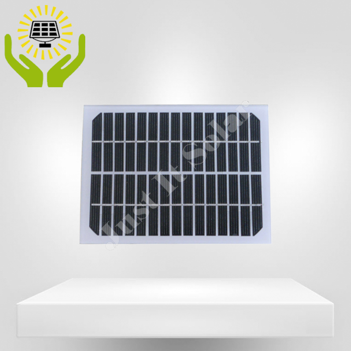 18V 3W Glass Solar Panel without Frame