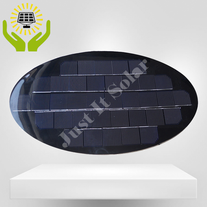 18V 4W Oval Shape PET Laminated Solar Panel