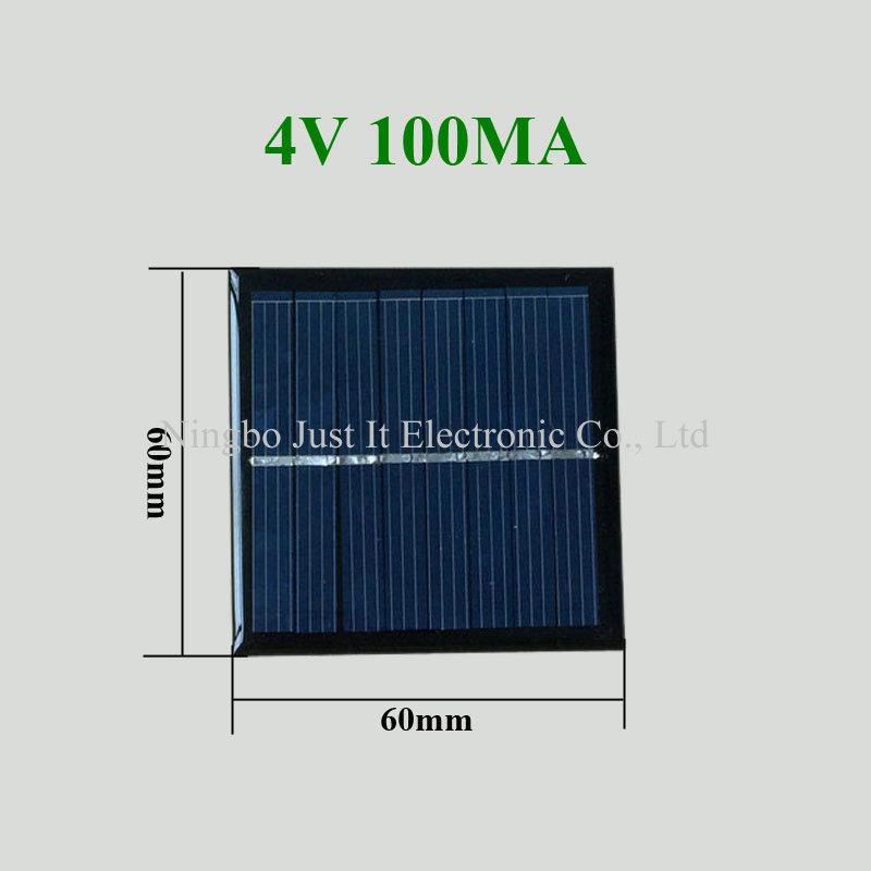 4V 100mA 60*60mm Epoxy Resin Small Size Solar Panel