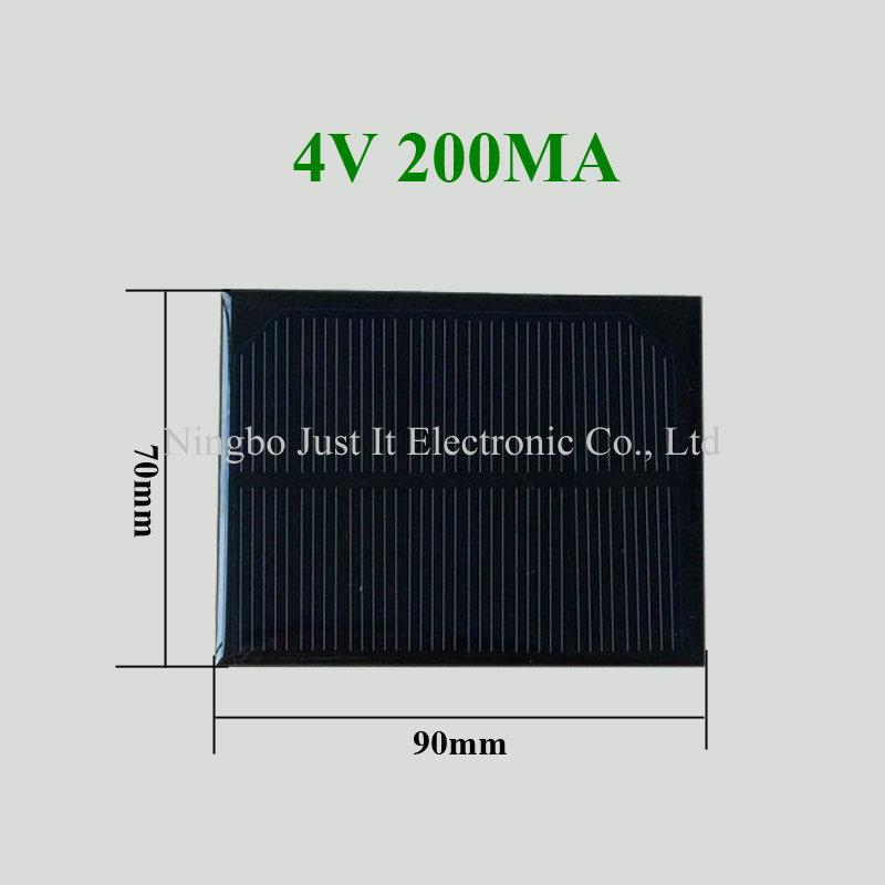 4V 200mA 90*70mm Small Monocrystalline Solar Cell