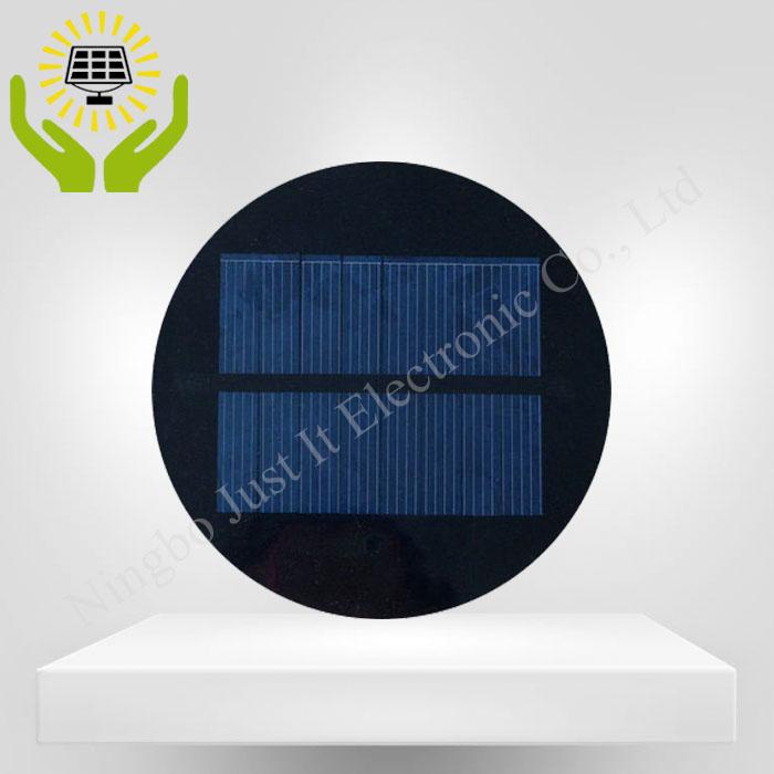 4V 125mA 0.5W Diameter 100mm Epoxy Mini Round Solar Cell