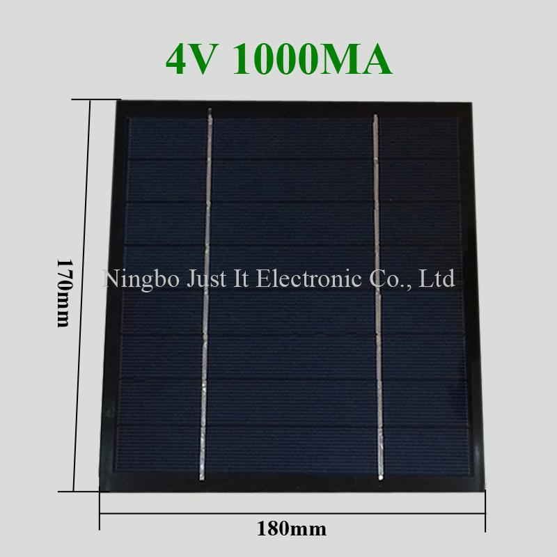 4V 1A 170*180mm Custom PET Solar Panel