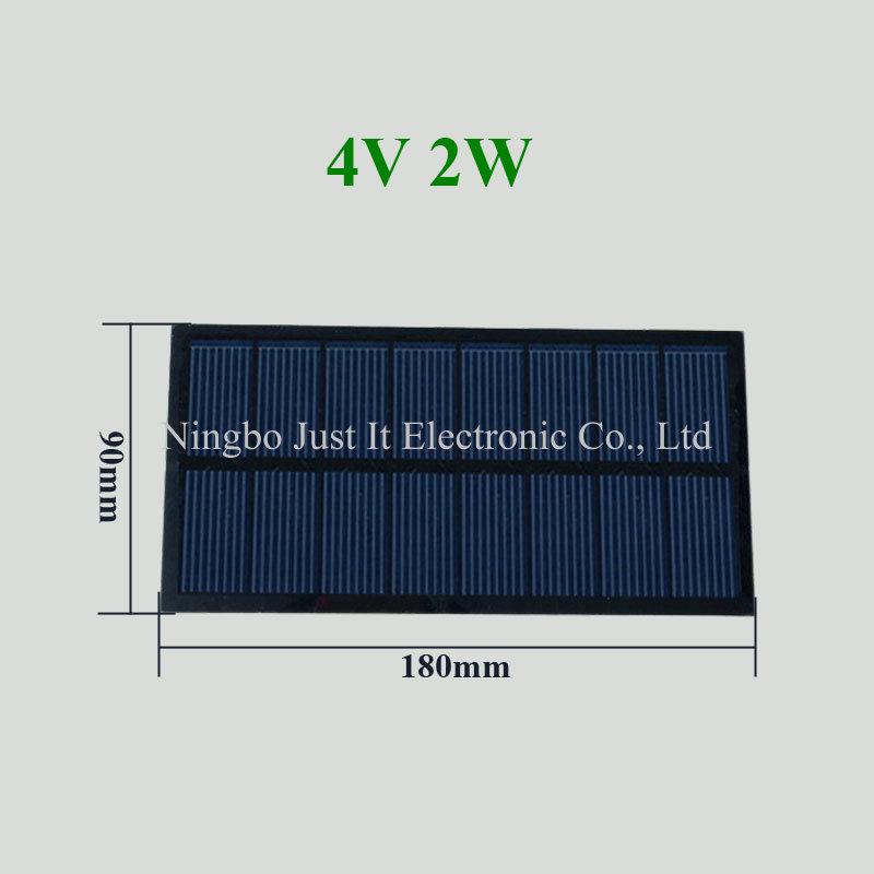 4V 500mA 2W 180*90mm Polycrystalline PET Solar Panel
