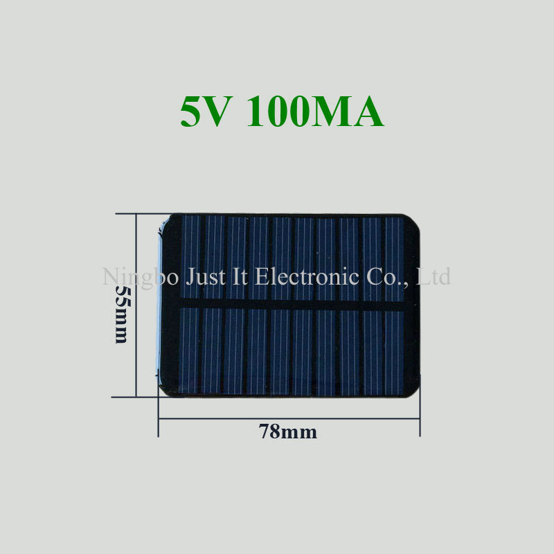 5V 100mA 55*78mm Epoxy Resin Mini PV Module