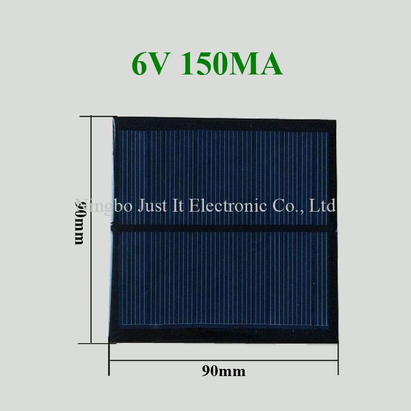6V 150mA 90*90mm Polycrystalline Epoxy Mini Solar Panel