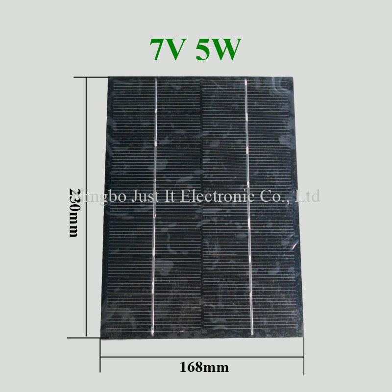 7V 720mA 5W 168*230mm PET Laminated Small Solar Cell
