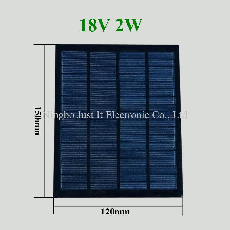18V 2W 120*150mm Small Epoxy Resin Solar Module
