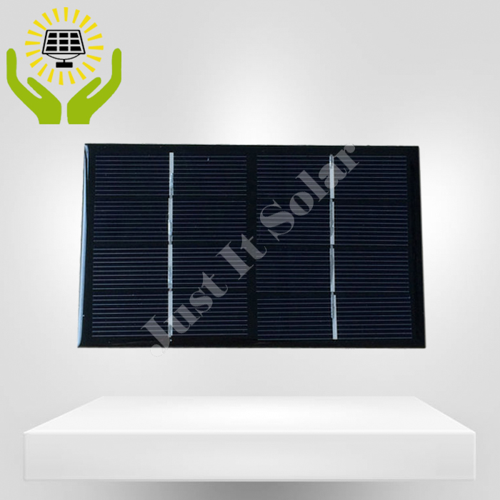 4V 375mA 1.5W 140*85mm Monocrystalline Epoxy Solar Panel