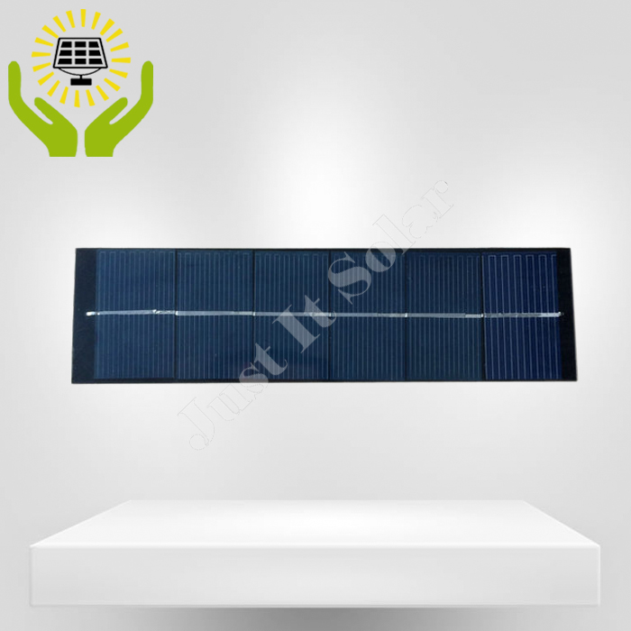 6V 340mA 2W 290*60mm Poly PET Laminated Solar Panel