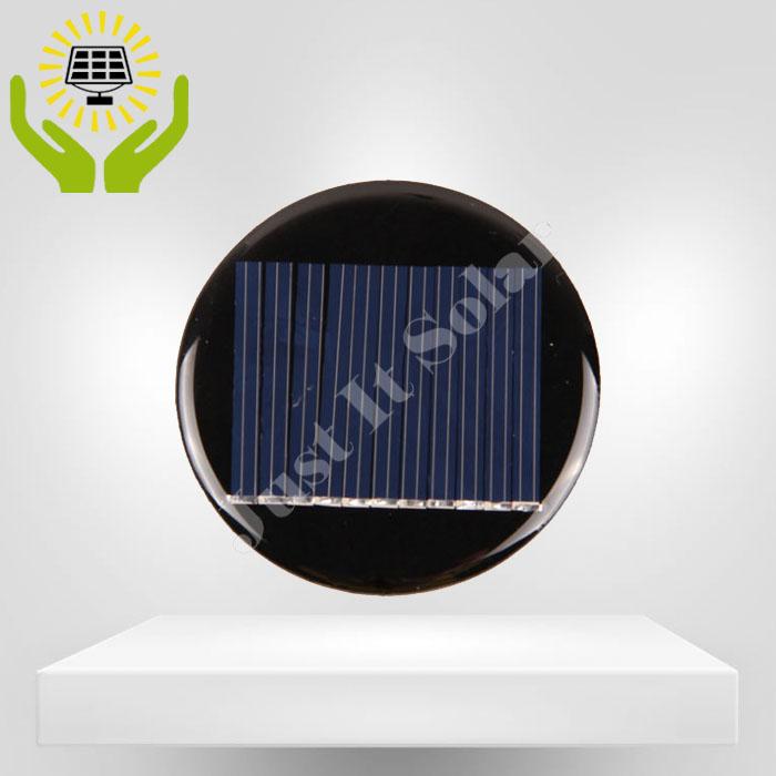 5.5V 40mA Diameter 55mm Epoxy Mini Round Solar Cell