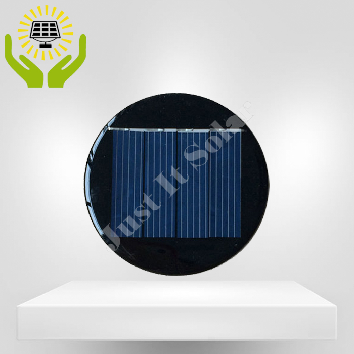 2V 125mA Diameter 67mm Epoxy Mini Round Solar Panel