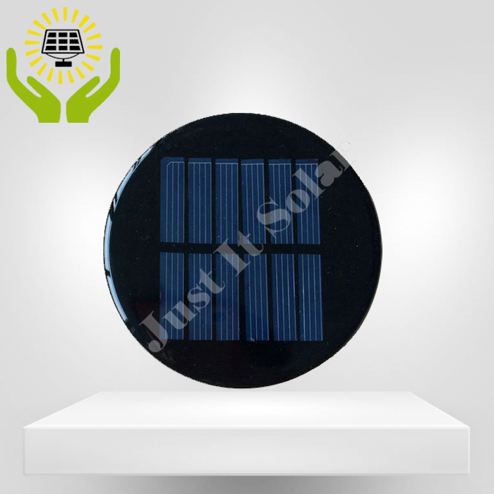 3V 100mA Diameter 80mm Epoxy Resin Round Shape Solar Cell