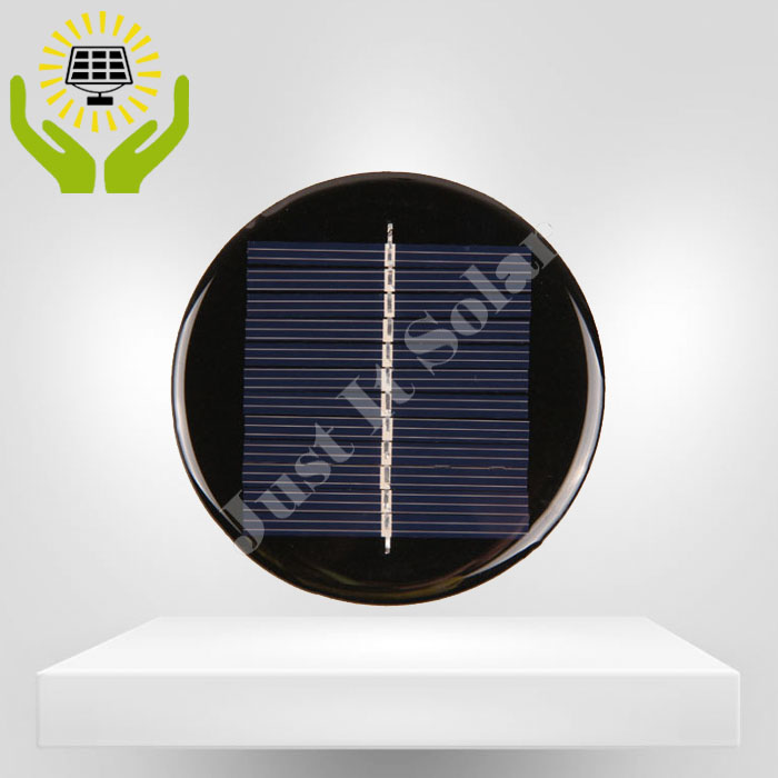 6V 70mA Diameter 80mm Epoxy Resin Circular Solar Cell