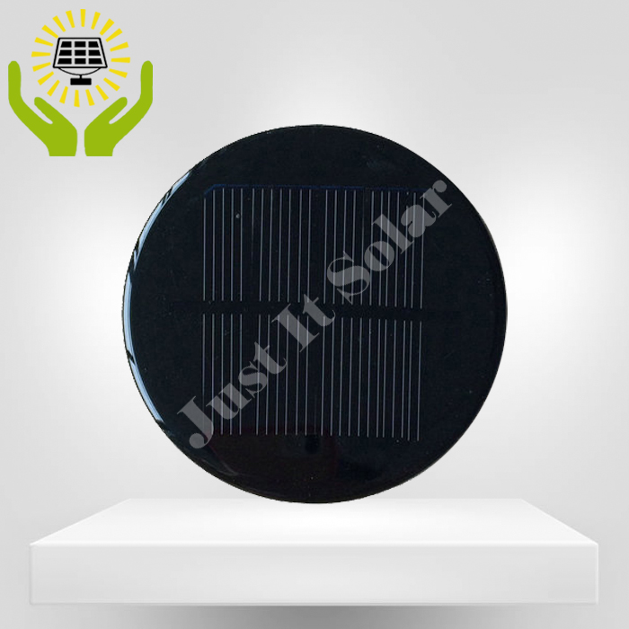 3V 200mA 0.6W Diameter 100mm Epoxy Round Solar Cell