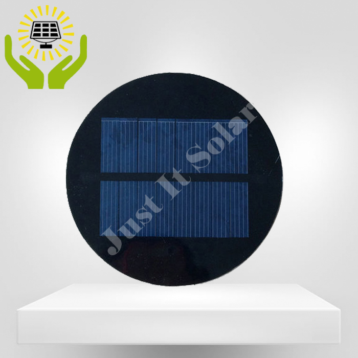 4V 125mA 0.5W Diameter 100mm Epoxy Mini Round Solar Cell