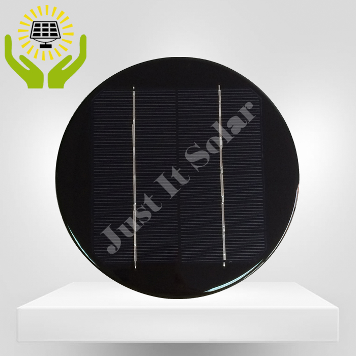 6V 450mA 2.7W Diameter 180mm Epoxy Round Solar Panel