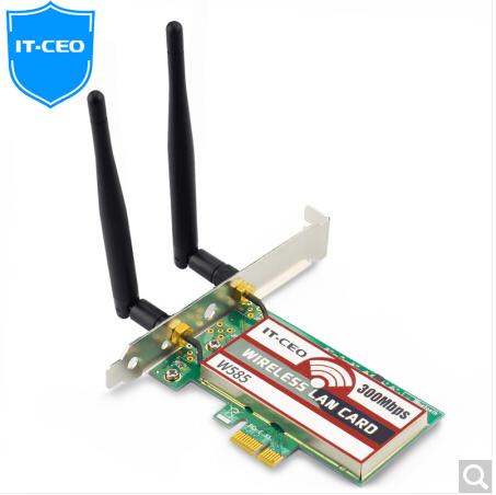 IT-CEO 300M无线PCI-E网卡/路由器 台式机WIFI接收器/发射器 模拟AP W585