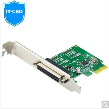 IT-CEO PCI-E转并口卡 DB25针并口扩展卡 PCIe转LPT接口打印机税控机 台式机IEEE1284扩展卡 W581