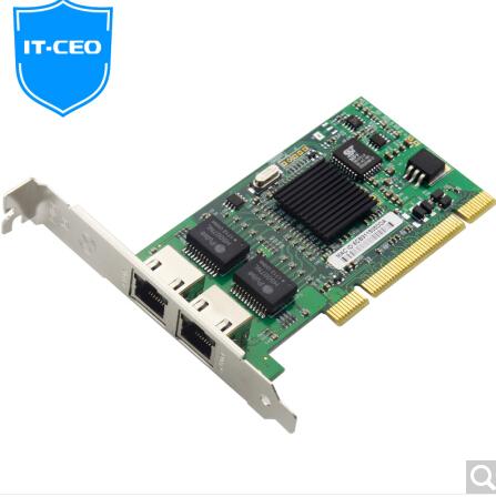 IT-CEO 双口PCI千兆网卡 英特尔软路由服务器网卡 台式机RJ45有线网卡 intel82546芯片 W587