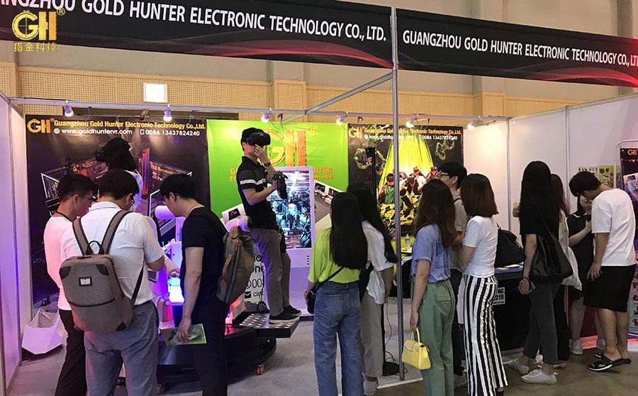 猎金9DVR虚拟现实体验馆设备在韩国VRAR展上大受欢迎