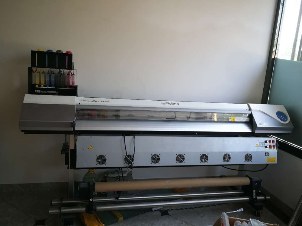 Picture of Second hand--Used Roland RA-640 eco Solvent Printer with a New DX7 Printhead
