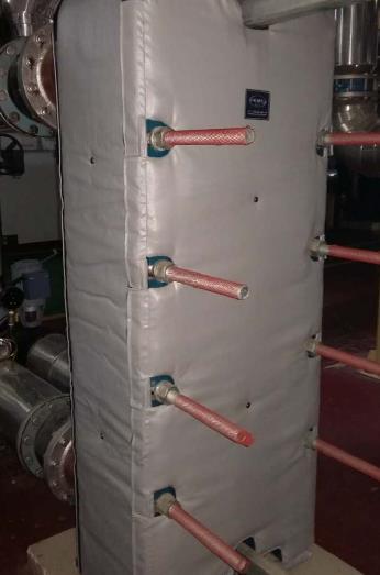 板式换热器保温套,板换可拆式保温套
