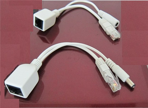 Picture of POE CABLE FOR UTP CAT5e 24AWG CABLE WITH RJ45 FEMALE TO DC5.5*2.1 PLUG AND RJ45 MALE