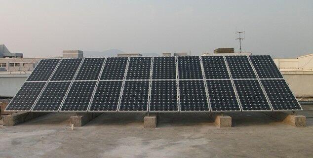 3KW太阳能并网发电站