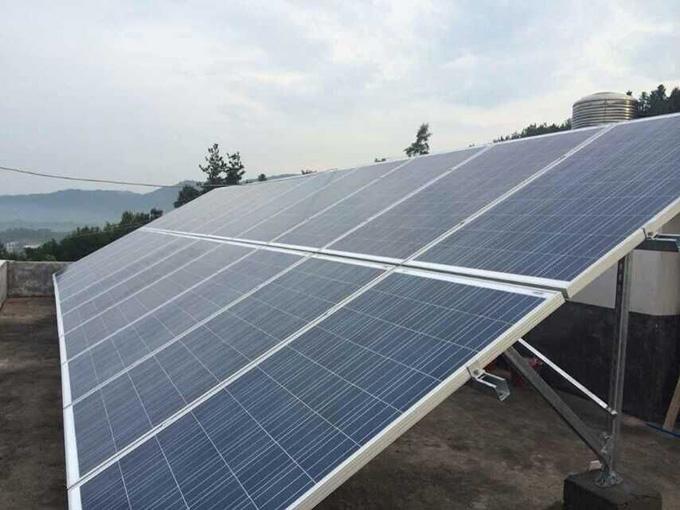 10KW太阳能家用并网发电站