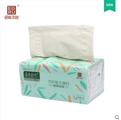 韶能本色原色时代系列抽纸 竹纤维面巾纸家用软抽不漂白卫生纸巾