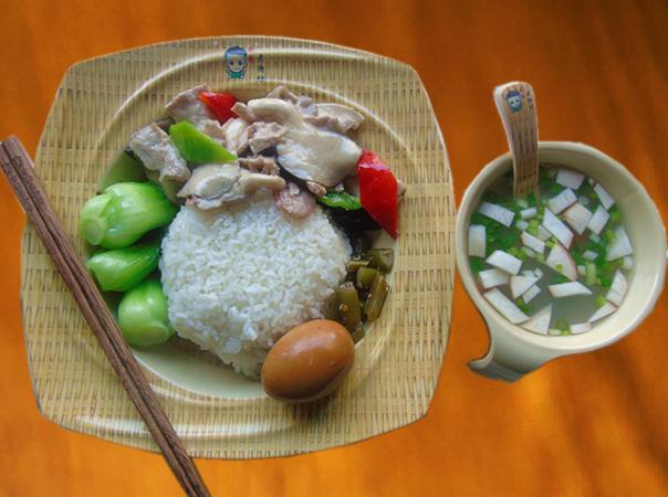 菌菇肉片套餐