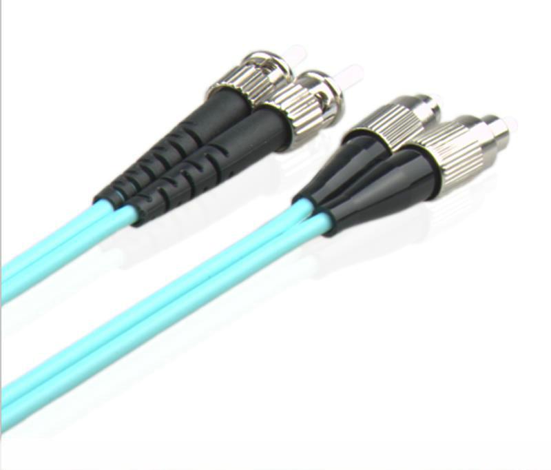 电信级OM3系列光纤跳线FC/UPC-ST/UPC多模万兆光纤跳线